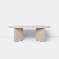 Mingle Table Top Oval 220 cm - Natural Oak Veneer | Tables de repas | ferm LIVING