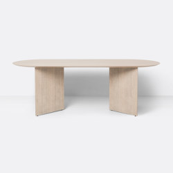 Mingle Table Top Oval 220 cm - Natural Oak Veneer | Tavoli pranzo | ferm LIVING