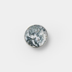 Hook - Steel - Marble - Small - Black Marble | Pomos para muebles | ferm LIVING