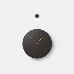 Trace Wall Clock - Black/Brass | Clocks | ferm LIVING