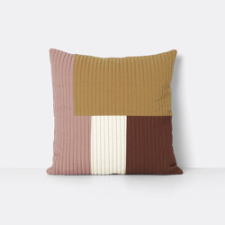 Shay Quilt Cushion 50 x 50 - Mustard | Coussins | ferm LIVING