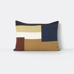 Shay Quilt Cushion 60 x 40 - Mustard | Coussins | ferm LIVING