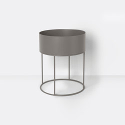 Plant Box - Round - Warm Grey | Plant pots | ferm LIVING