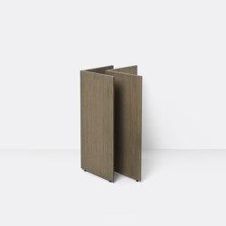Mingle Wooden Table Legs - W48 - Dark Stained Oak Veneer | Cavalletti | ferm LIVING