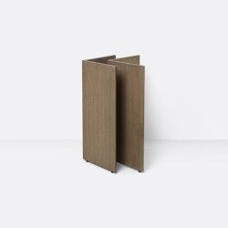Mingle Wooden Table Legs - W48 - Dark Stained Oak Veneer | Tréteaux | ferm LIVING