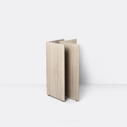 Mingle Wooden Table Legs W48 - Natural Oak Veneer | Cavalletti | ferm LIVING