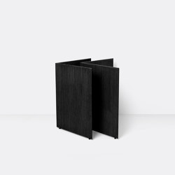 Mingle Wooden Table Legs W48 - Black Veneer | Caballetes de mesa | ferm LIVING