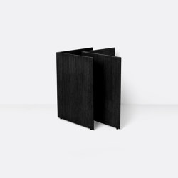 Mingle Wooden Table Legs W68 - Black Veneer | Caballetes de mesa | ferm LIVING