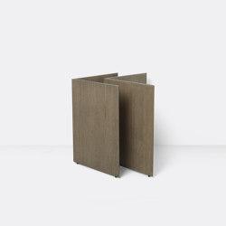 Mingle Wooden Table Legs W68 - Dark Stained Oak Veneer | Cavalletti | ferm LIVING