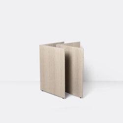 Mingle Wooden Table Legs W68 - Natural Oak Veneer | Cavalletti | ferm LIVING
