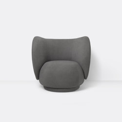 Rico Lounge Chair - Brushed - Grey   Fauteuils   ferm LIVING