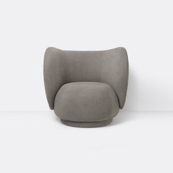 Rico Lounge Chair - Brushed - Warm Grey | Sessel | ferm LIVING