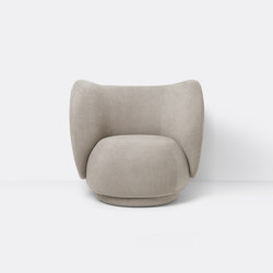 Rico Lounge Chair - Brushed - Sand   Fauteuils   ferm LIVING