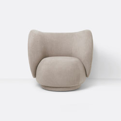 Rico Lounge Chair - Brushed - Sand | Poltrone | ferm LIVING