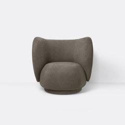 Rico Lounge Chair - Brushed - Brown | Sessel | ferm LIVING