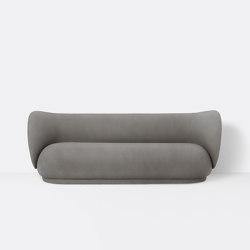 Rico 3-Seater Sofa - Brushed - Warm Grey   Canapés   ferm LIVING