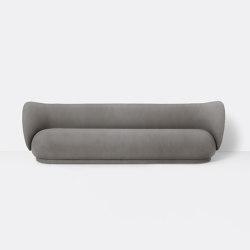 Rico 4-Seater Sofa - Brushed - Grey | Canapés | ferm LIVING
