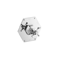 Cubist Thermostatic Mixer with Crosstop   Grifería para duchas   Czech & Speake