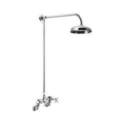 Edwardian Wall Mounted Shower Mixer (Fixed 3/4″ Unions)   Shower controls   Czech & Speake