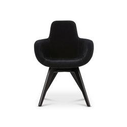Scoop Chair High Back Black Leg Cassia 09 | Stühle | Tom Dixon