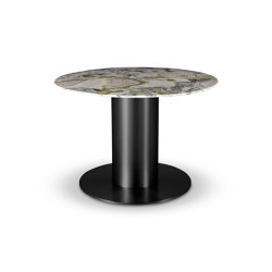 Tube Wide Dining Table Black Primavera Marble Top 1100mm | Mesas comedor | Tom Dixon