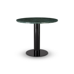 Tube Dining Table Green Marble Top 900mm | Tables de repas | Tom Dixon