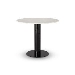 Tube Dining Table White Marble Top 900mm | Tavoli pranzo | Tom Dixon