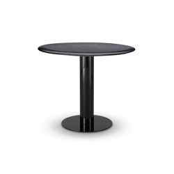 Tube Dining Table Black Oak Top 900mm | Tavoli pranzo | Tom Dixon