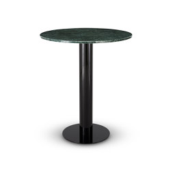 Tube High Table Green Marble Top 900mm | Dining tables | Tom Dixon