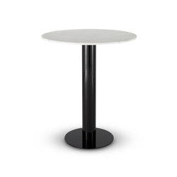 Tube High Table White Marble Top 900mm | Dining tables | Tom Dixon