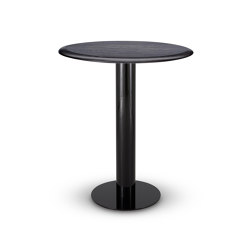 Tube High Table Black Oak Top 900mm | Tavoli pranzo | Tom Dixon