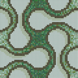 Shiru Green | Mosaïques verre | Mosaico+