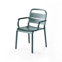 Marumi | Dining Armchair in Aluminum | Chairs | EGO Paris