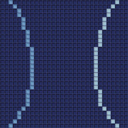 Loop Blue | Mosaïques verre | Mosaico+