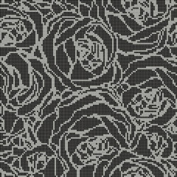 Bouquet Black | Glass mosaics | Mosaico+