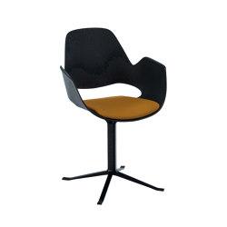 FALK | Dining armchair - Black Column Leg, Amber seat | Stühle | HOUE