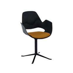FALK | Dining armchair - Black Column Leg, Amber seat | Chairs | HOUE