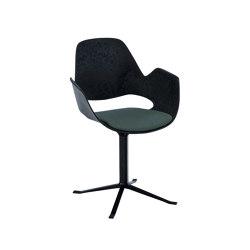 FALK | Dining armchair - Black Column Leg, Dark Olive seat | Chairs | HOUE