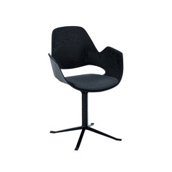 FALK | Dining armchair - Black Column Leg, Carbon Grey seat | Chairs | HOUE