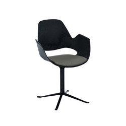 FALK | Dining armchair - Black Column Leg, Warm Clay seat | Chairs | HOUE