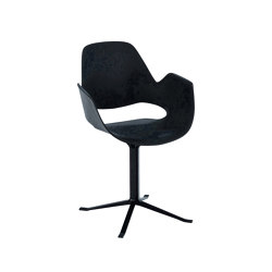 FALK | Dining armchair - Black Column Leg | Chairs | HOUE