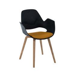 FALK | Dining armchair - Oiled oak legs, Amber seat | Sillas | HOUE