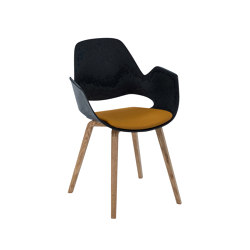 FALK | Dining armchair - Oiled oak legs, Amber seat | Chairs | HOUE