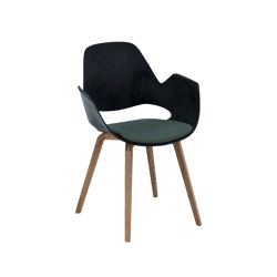 FALK | Dining armchair - Oiled oak legs, Dark Olive Seat | Chairs | HOUE