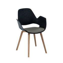 FALK | Dining armchair - Oiled oak legs, Warm Clay Seat | Sillas | HOUE