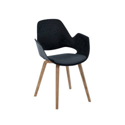 FALK | Dining armchair - Oiled oak legs, Carbon grey Seat | Chairs | HOUE