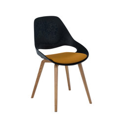 FALK | Dining chair - Oiled oak legs, Amber seat | Sillas | HOUE