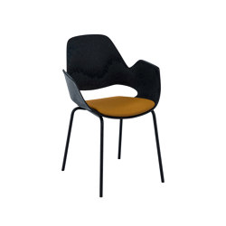 FALK | Dining armchair - Metal legs, Amber seat | Chairs | HOUE