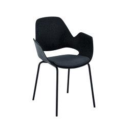 FALK   Dining armchair - Metal legs, Carbon Grey seat   Sillas   HOUE
