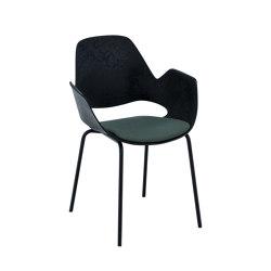 FALK   Dining armchair - Metal legs, Dark Olive seat   Sillas   HOUE